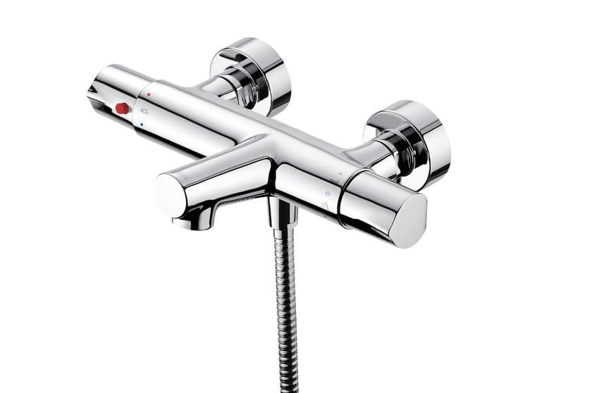 Miscelatore per vasca a muro termostatico in ottone cromato con flessibile di alimentazione CHAPTER | Miscelatore per vasca by JUSTIME