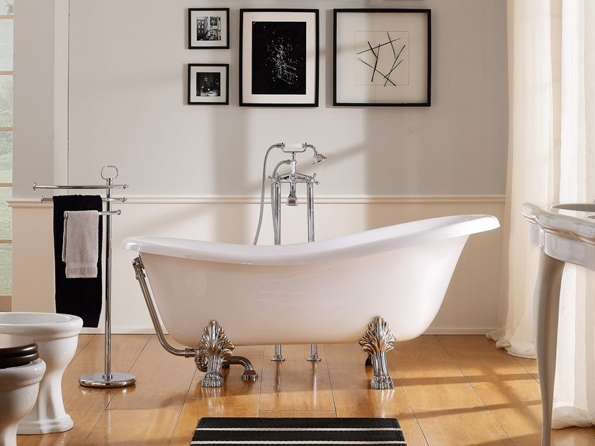 Freestanding ceramic bathtub CASTELLANA | Bathtub by Scarabeo Ceramiche