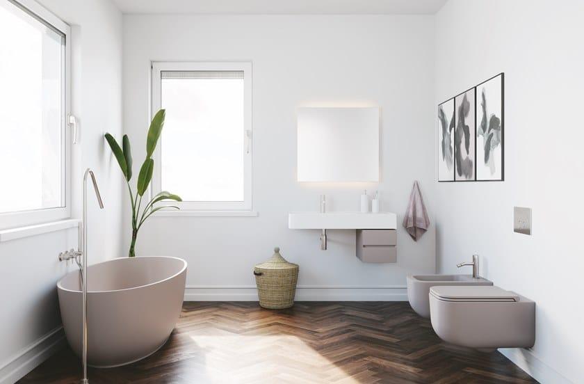 Vasca Da Bagno Qube : Vasca da bagno centro stanza in solid surface revolution® vasca da