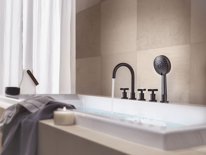 5 hole bathtub set LIRA | Bathtub set by Nobili Rubinetterie
