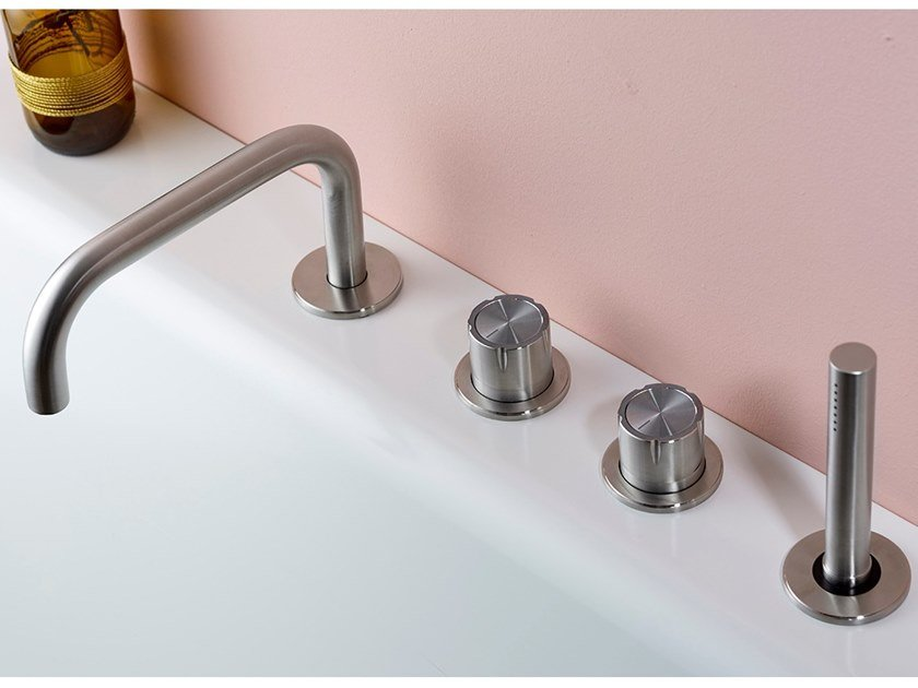 Stainless steel bathtub set SYNTH | Bathtub set by MINA