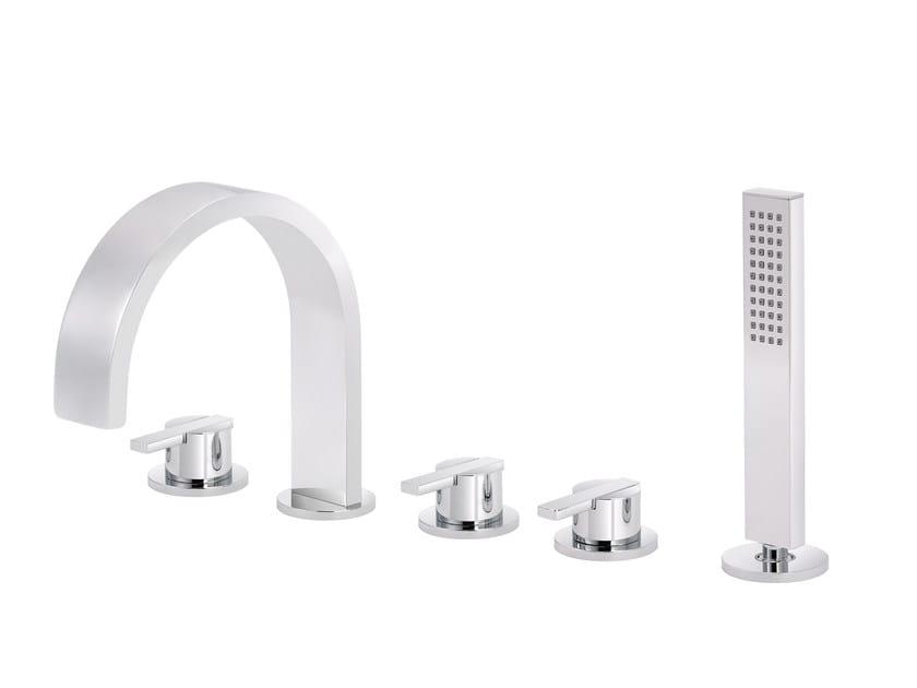 5 hole bathtub set with hand shower LINE   5 hole bathtub set by rvb
