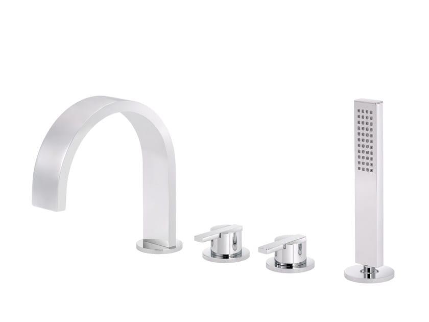 4 hole bathtub set with hand shower LINE | 4 hole bathtub set by rvb