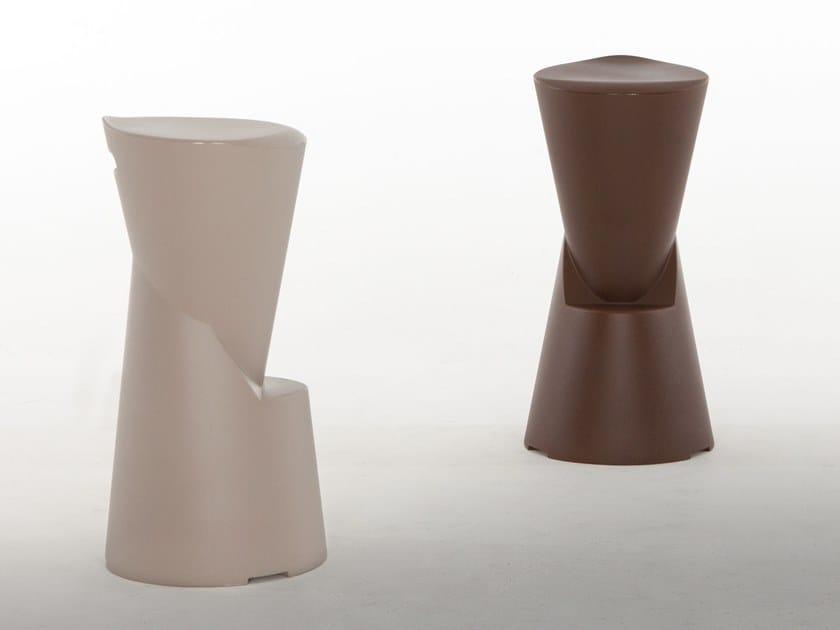 High stool with footrest BATIK by Tonin Casa
