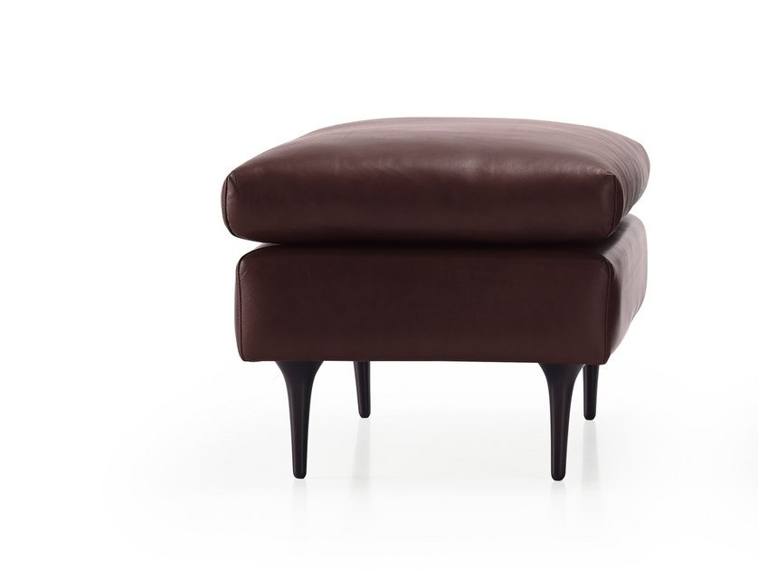 Leather pouf BAU | Leather pouf by HMD INTERIORS