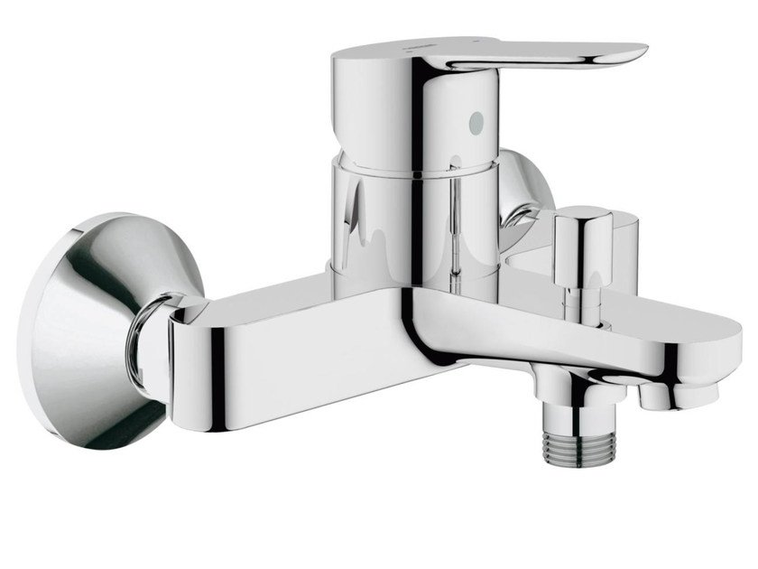 Wall-mounted single handle bathtub / shower mixer BAUEDGE | 2 hole bathtub mixer by Grohe