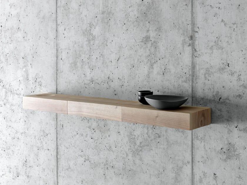 Walnut wall shelf BÀUTI by FIORONI