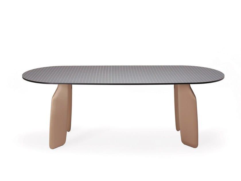 Tavolo da pranzo ovale in laminato BAVARESK | Tavolo in laminato by Dante