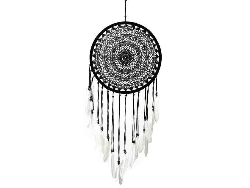 Wooden dreamcatcher BAWI009BW-42 | Hanging decoration by Bazar Bizar