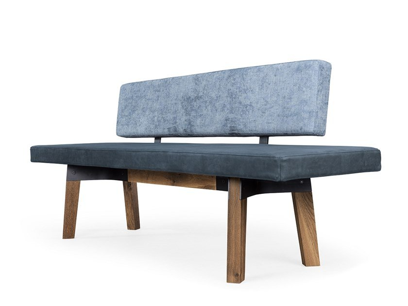 Fabric bench with back BB32 | Fabric bench by JANUA