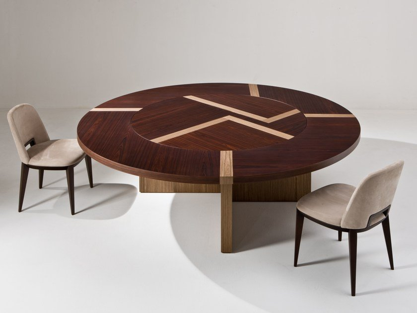 Round wooden table BD07 T by Laurameroni