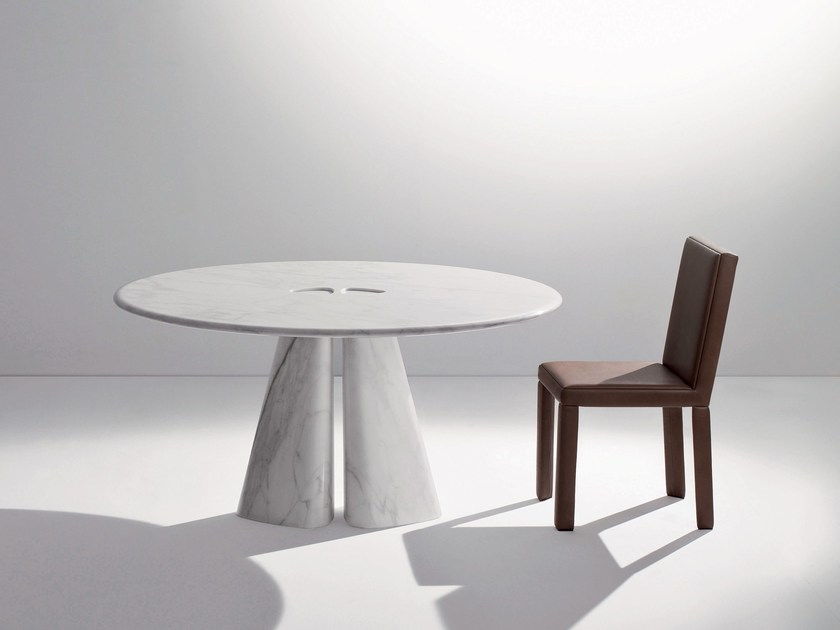 Round marble table RAJA BD48 T by Laurameroni