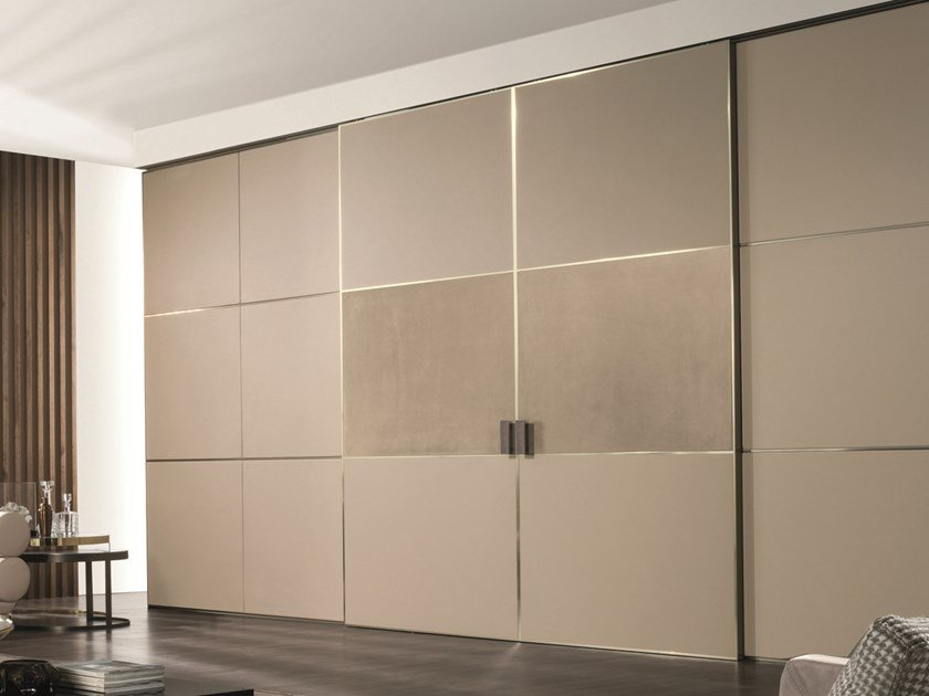 Leather sliding door BE MINE | Leather door by Longhi