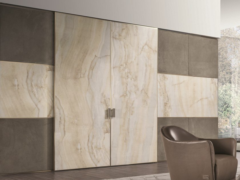 Glazed stoneware sliding door BE MINE | Porcelain stoneware door by Longhi