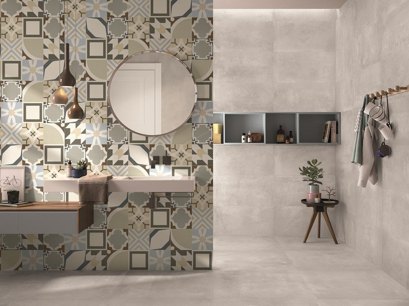 Indoor porcelain stoneware wall/floor tiles BE-SQUARE CONCRETE by EmilCeramica by Emilgroup