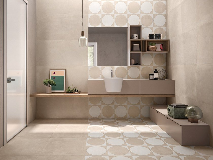 Indoor porcelain stoneware wall/floor tiles BE-SQUARE IVORY by EmilCeramica by Emilgroup