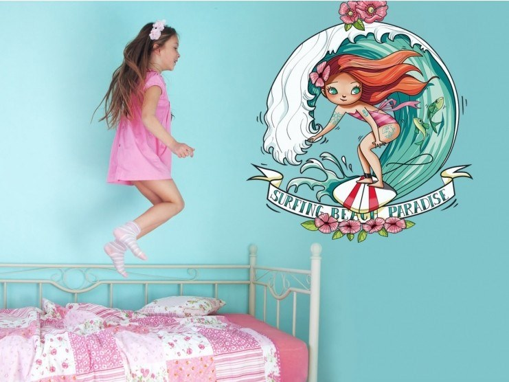 Kids wall sticker BEACH PARADISE by ACTE-DECO