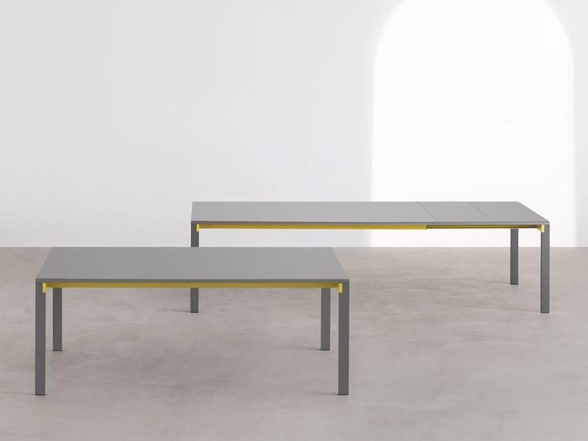 Extending rectangular table BEAM | Extending table by Desalto