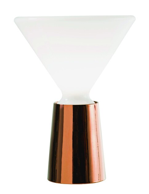 Contemporary style fluorescent metal table lamp BEAM by ROCHE BOBOIS