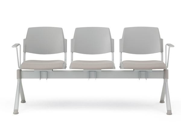 Freestanding beam seating with armrests VOLÉE EASY SOFT | Beam seating by Diemmebi