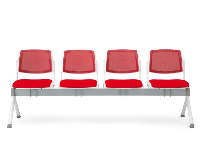 Freestanding fabric beam seating VOLÉE NET SOFT | Beam seating by Diemmebi