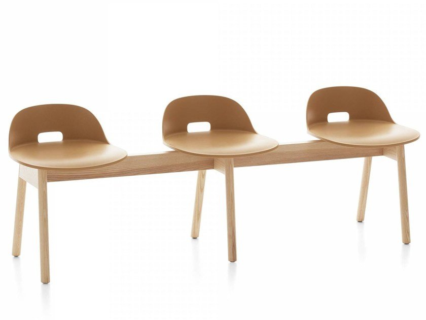 Wooden beam seating ALFI   Beam seating by Emeco