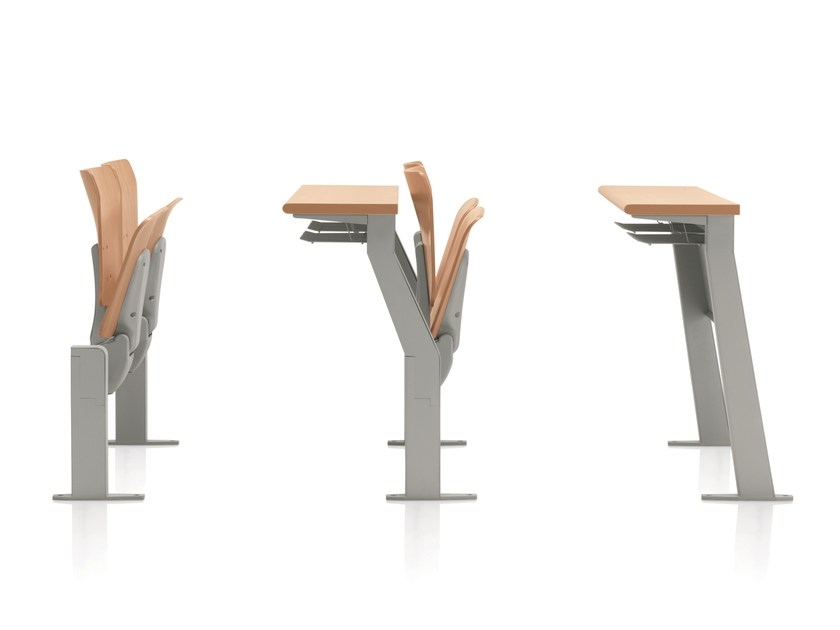 Beam seating with writing tablet with tip-up seats CONNEXION | Beam seating with tip-up seats by Emmegi
