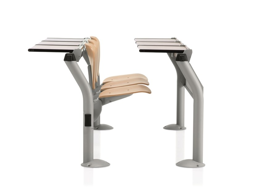 Beam seating with writing tablet with tip-up seats CAMPUS | Beam seating with writing tablet by Emmegi