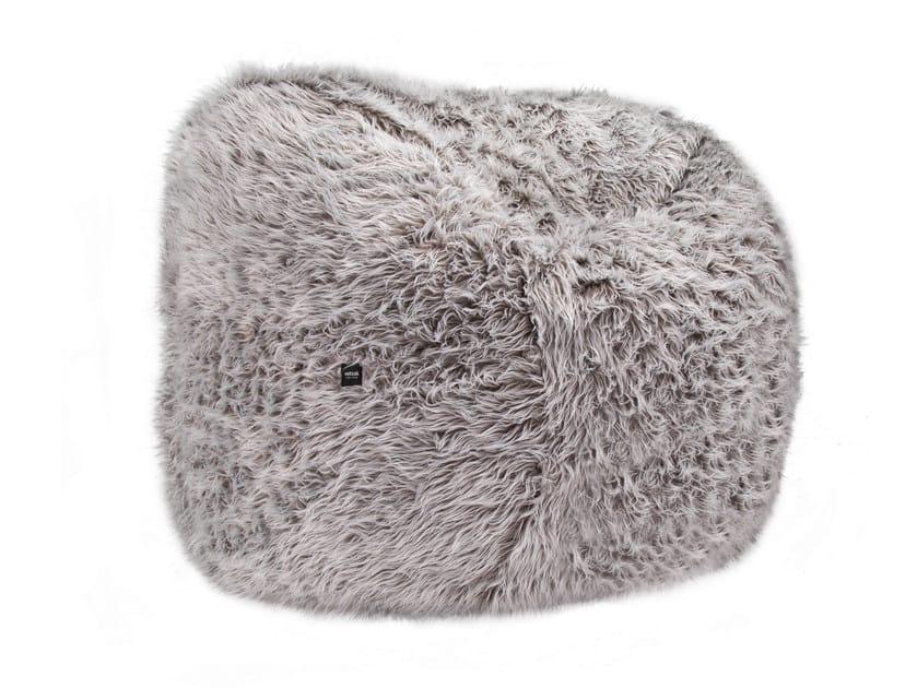 Poltrona a sacco imbottita in tessuto flokati beanbag vetsak