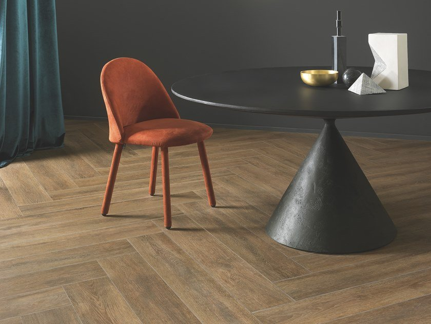 Porcelain stoneware wall/floor tiles with wood effect BEAT BROWN by CERAMICHE KEOPE