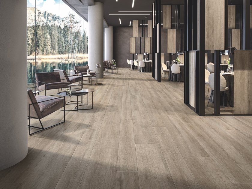 Porcelain stoneware wall floor tiles cementine color by ceramiche keope