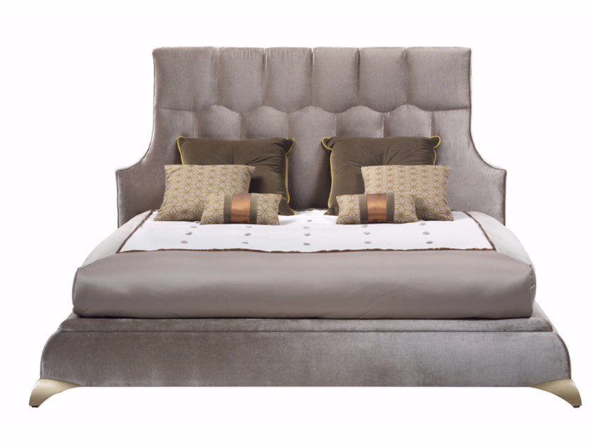 Fabric double bed with high headboard GASPARE | Bed by ELLEDUE ARREDAMENTI