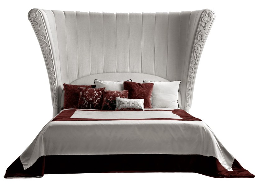 Fabric double bed with high headboard SARAYA | Bed by ELLEDUE ARREDAMENTI