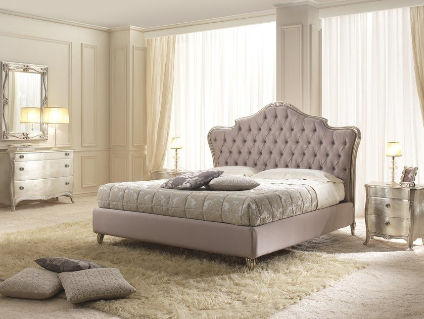 Storage bed with tufted headboard EDEN | Bed by Gold Confort