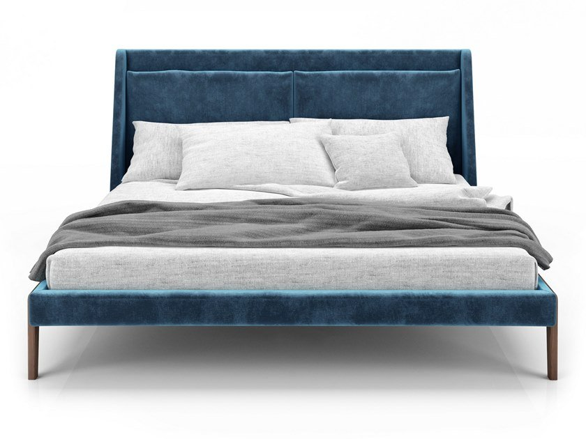 Bed double bed with upholstered headboard FRIDA | Bed by Huppé