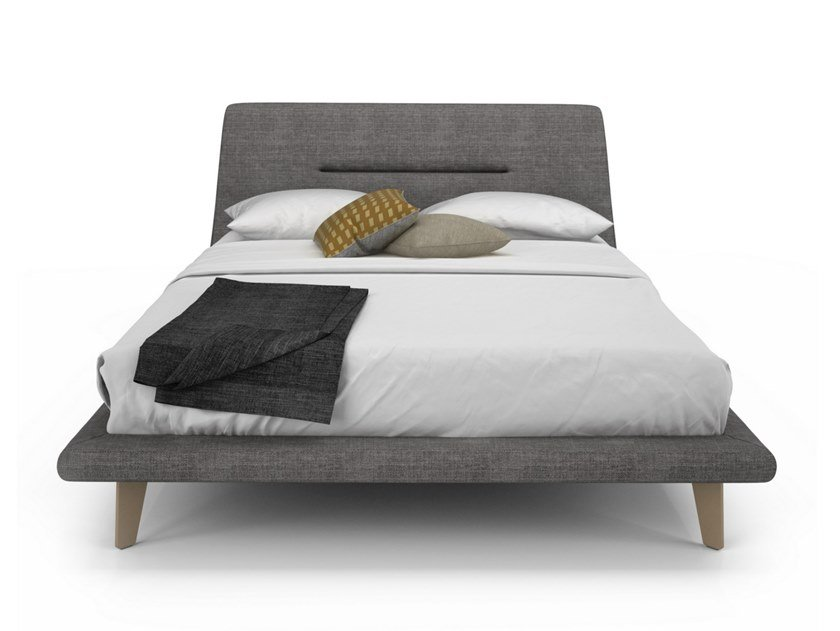 Fabric bed double bed MEMENTO | Bed by Huppé