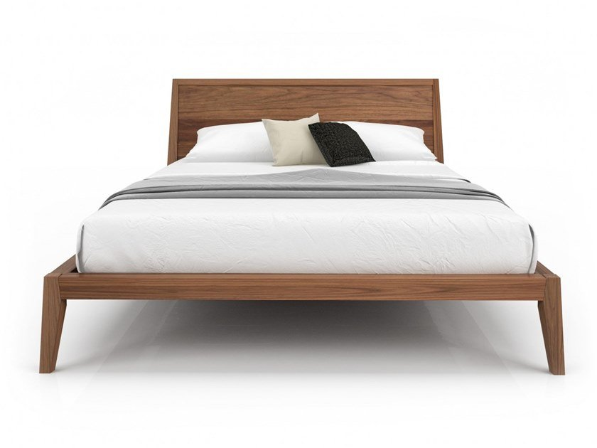 Walnut bed double bed MOMENT | Bed by Huppé