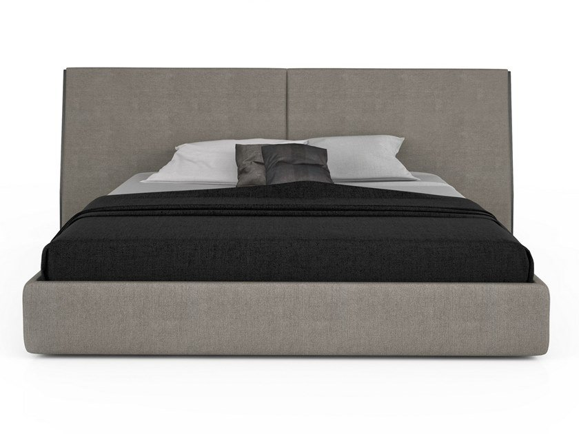 Fabric bed double bed with high headboard SERENO | Bed by Huppé