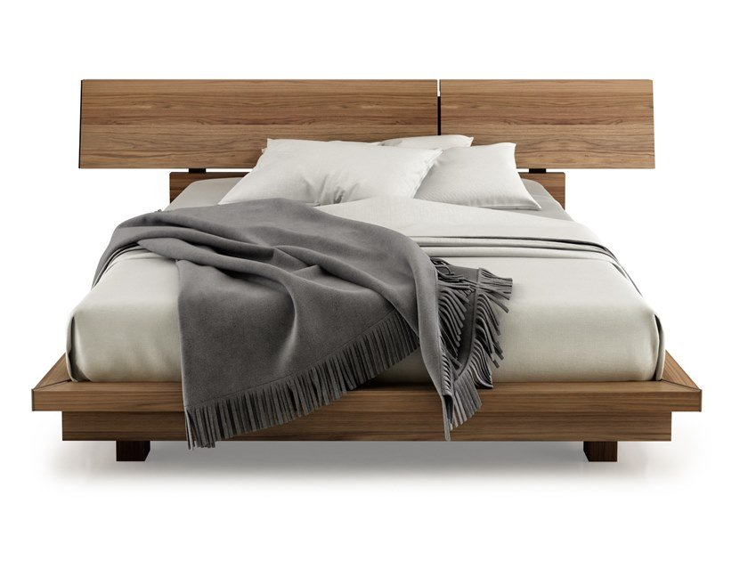 Walnut bed double bed SWAN | Bed by Huppé