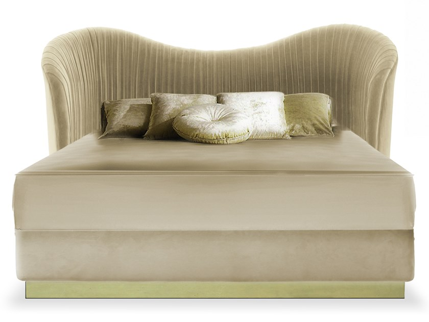 Velvet bed with high headboard KELLY | Bed by KOKET