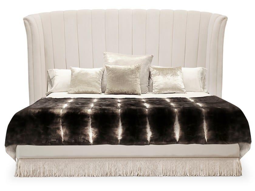 Velvet bed with upholstered headboard SEVILLIANA | Bed by KOKET