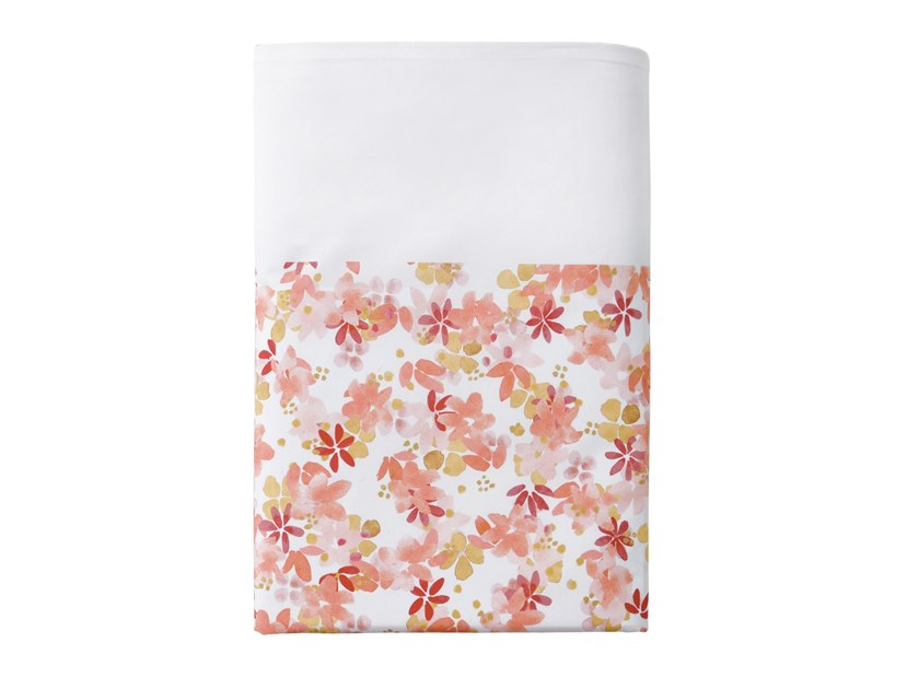 Printed cotton bed sheet with floral pattern CIRCEE | Bed sheet by Alexandre Turpault