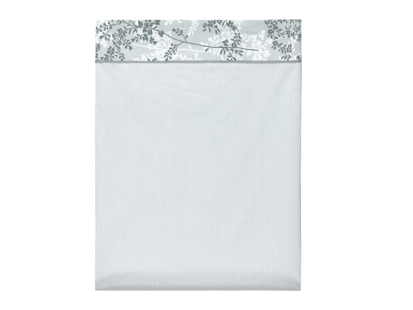 Printed cotton bed sheet with floral pattern ERMITAGE | Bed sheet by Alexandre Turpault