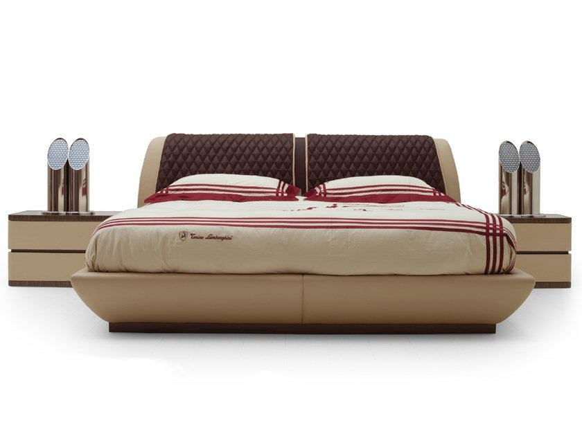 Upholstered Deerskin double bed BANUS | Bed by Tonino Lamborghini Casa