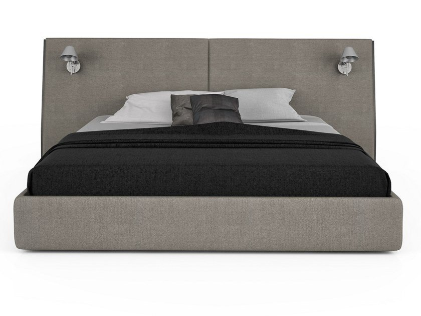 Fabric bed double bed with integrated lighting SERENO | Bed with integrated lighting by Huppé
