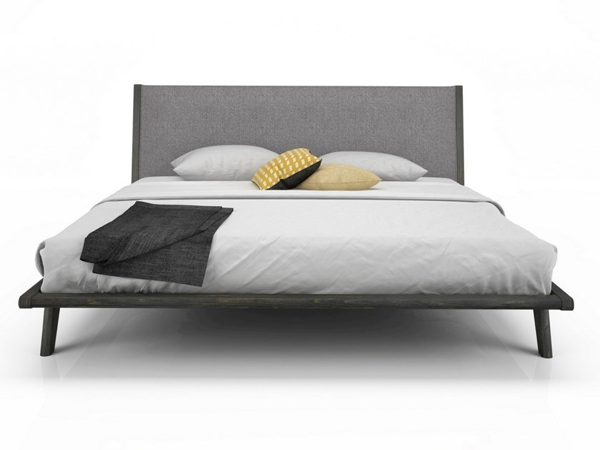 Bed double bed with upholstered headboard MILES | Bed with upholstered headboard by Huppé