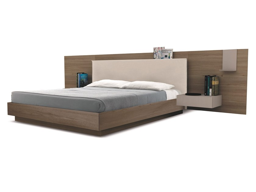Double bed with upholstered headboard BED45 | Bed with upholstered headboard by Zalf