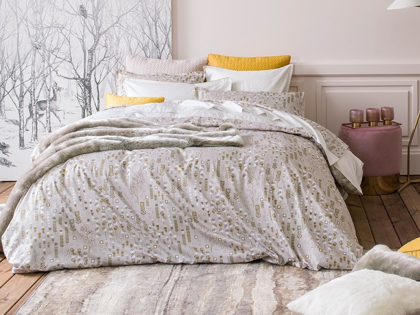 Printed cotton bedding set with floral pattern CONTE D'HIVER | Bedding set by Alexandre Turpault