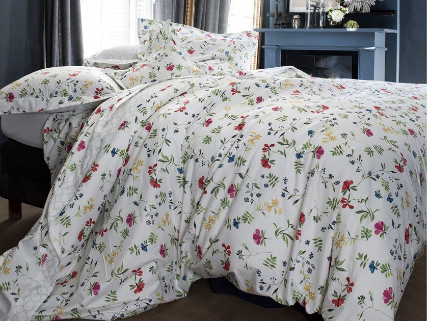 Printed cotton bedding set with floral pattern RENAISSANCE | Bedding set by Alexandre Turpault