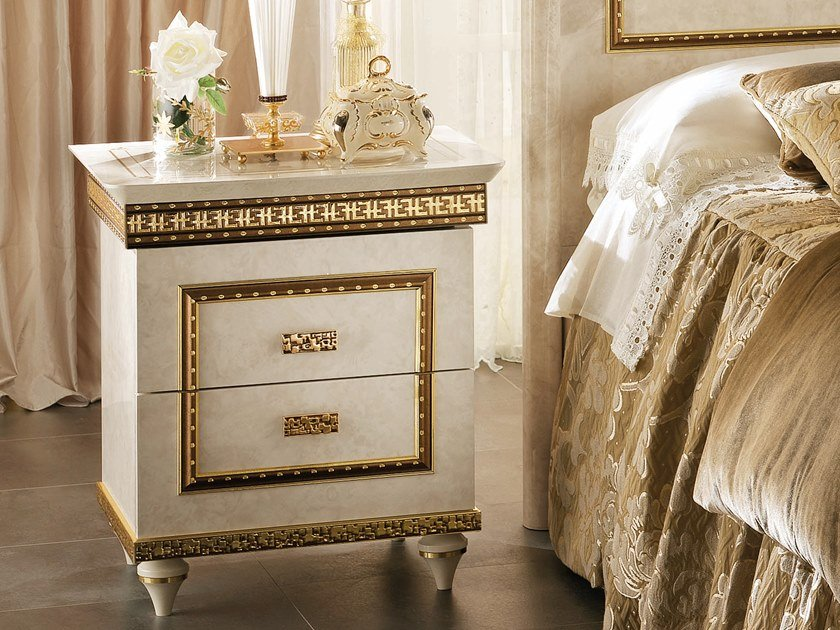 Rectangular bedside table with drawers FANTASIA | Bedside table by Arredoclassic